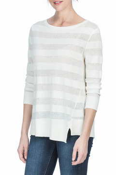 Shoptiques Product: Wrapped Seam Boat Neck Sweater