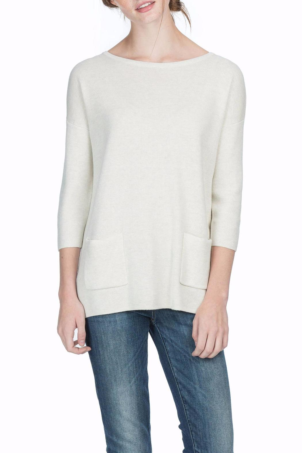 Lilla P 3/4 Sleeve Boat Neck - Front Cropped Image