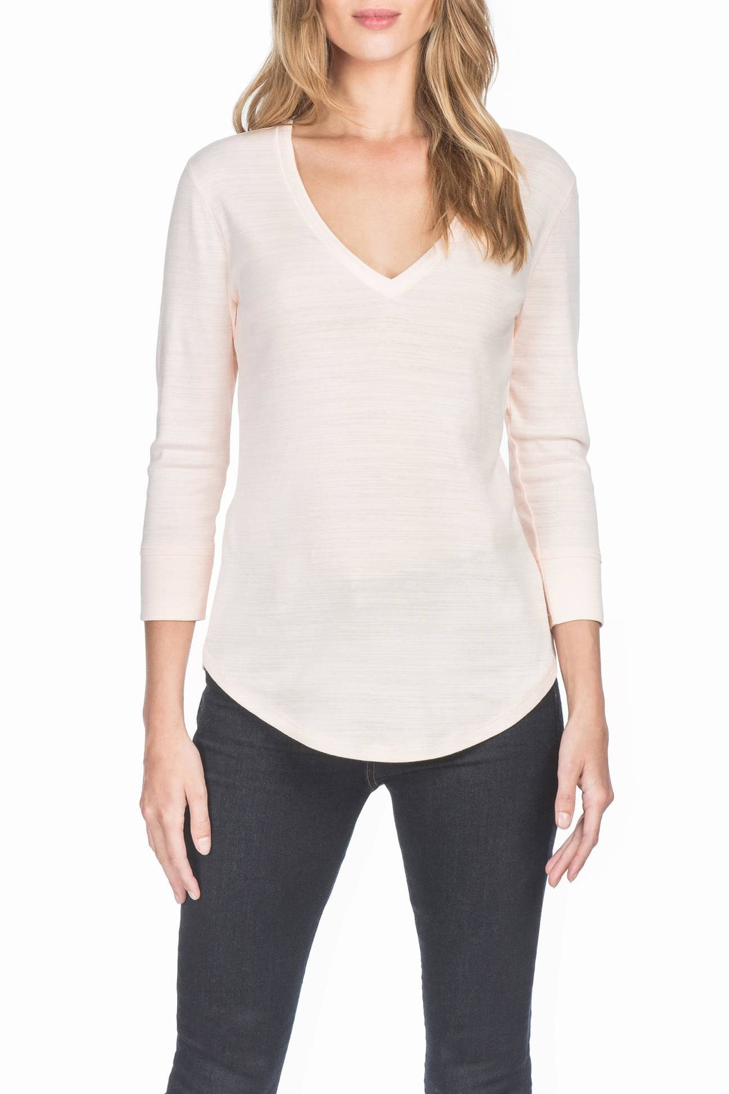 Lilla P 3/4 Sleeve V-Neck - Main Image