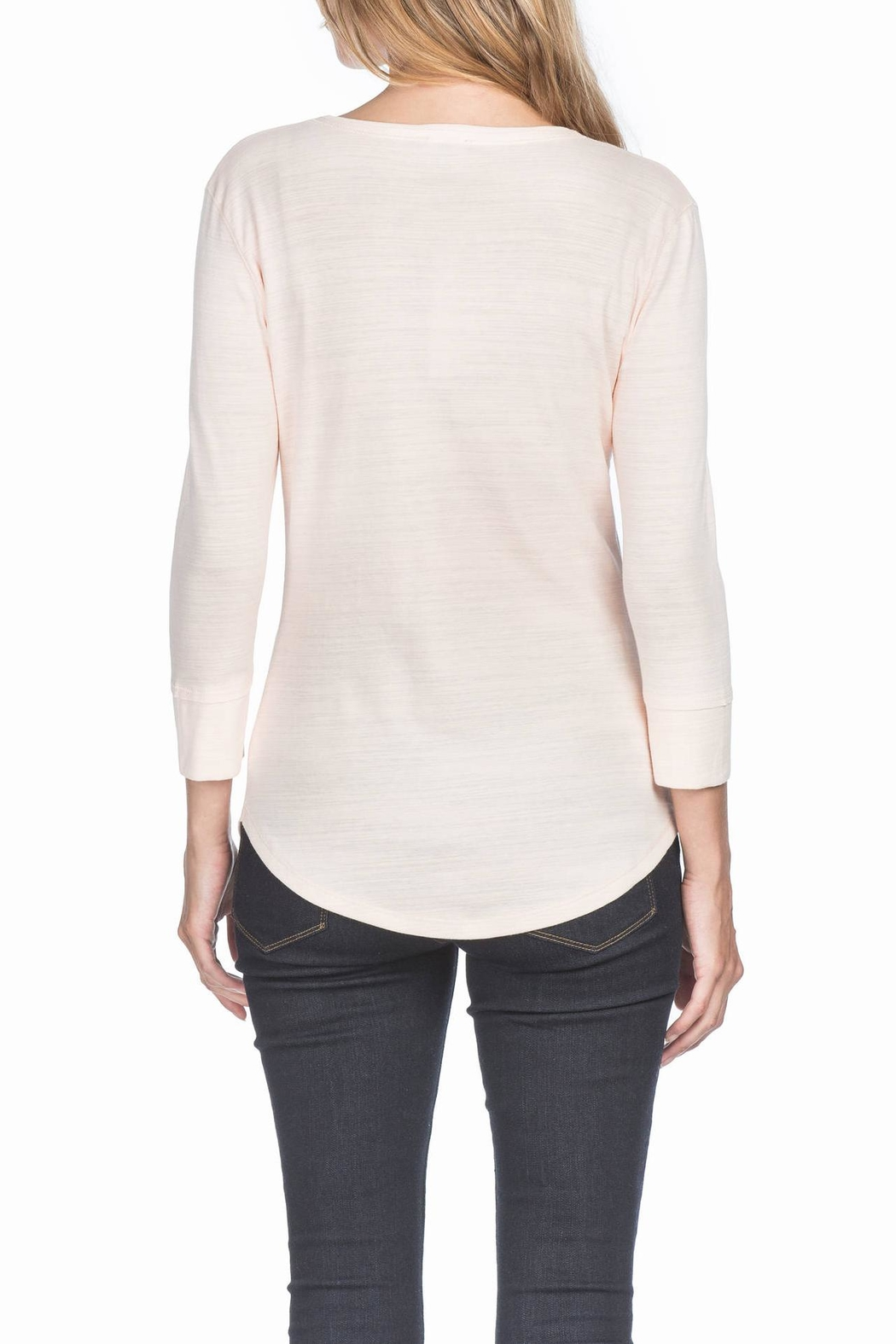 Lilla P 3/4 Sleeve V-Neck - Front Full Image