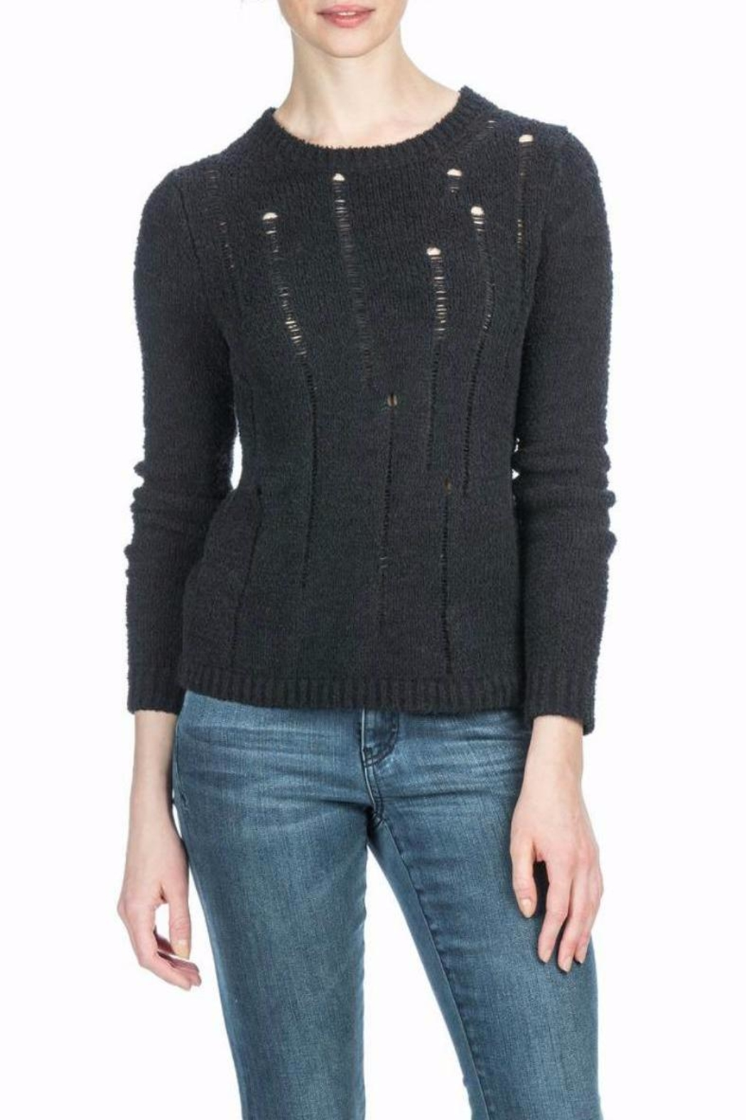 Lilla P Black Sweater - Front Cropped Image
