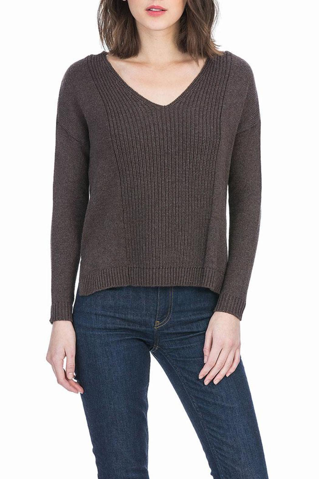 Lilla P Cotton Cashmere Sweater - Front Cropped Image