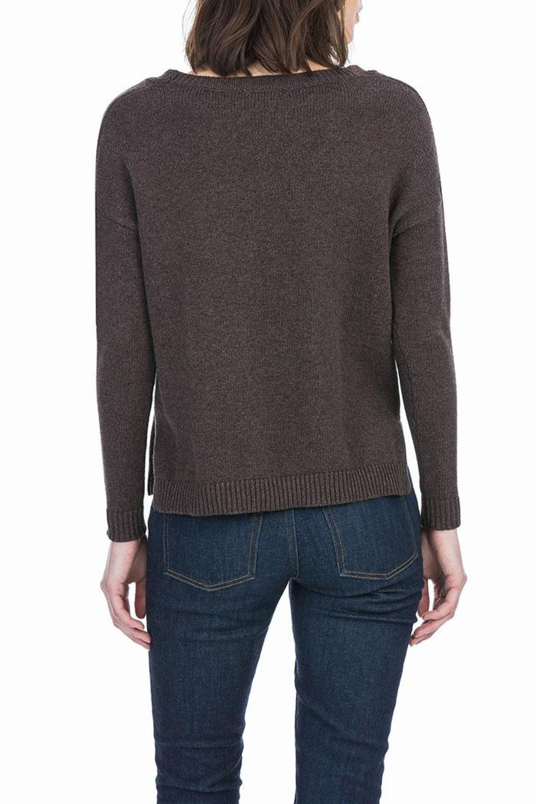 Lilla P Cotton Cashmere Sweater - Front Full Image