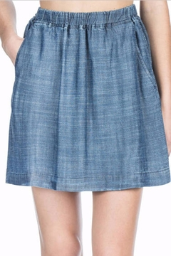 Shoptiques Product: Cross Hatch Chambray Skirt