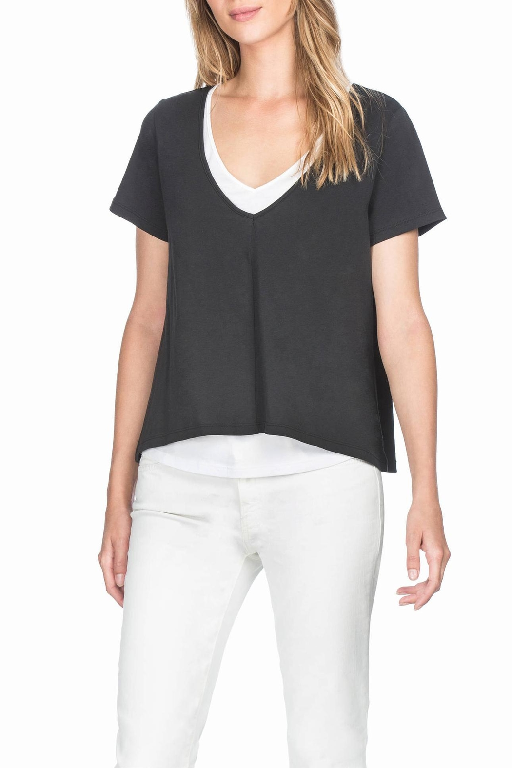 Lilla P Double Layer Tee - Front Cropped Image