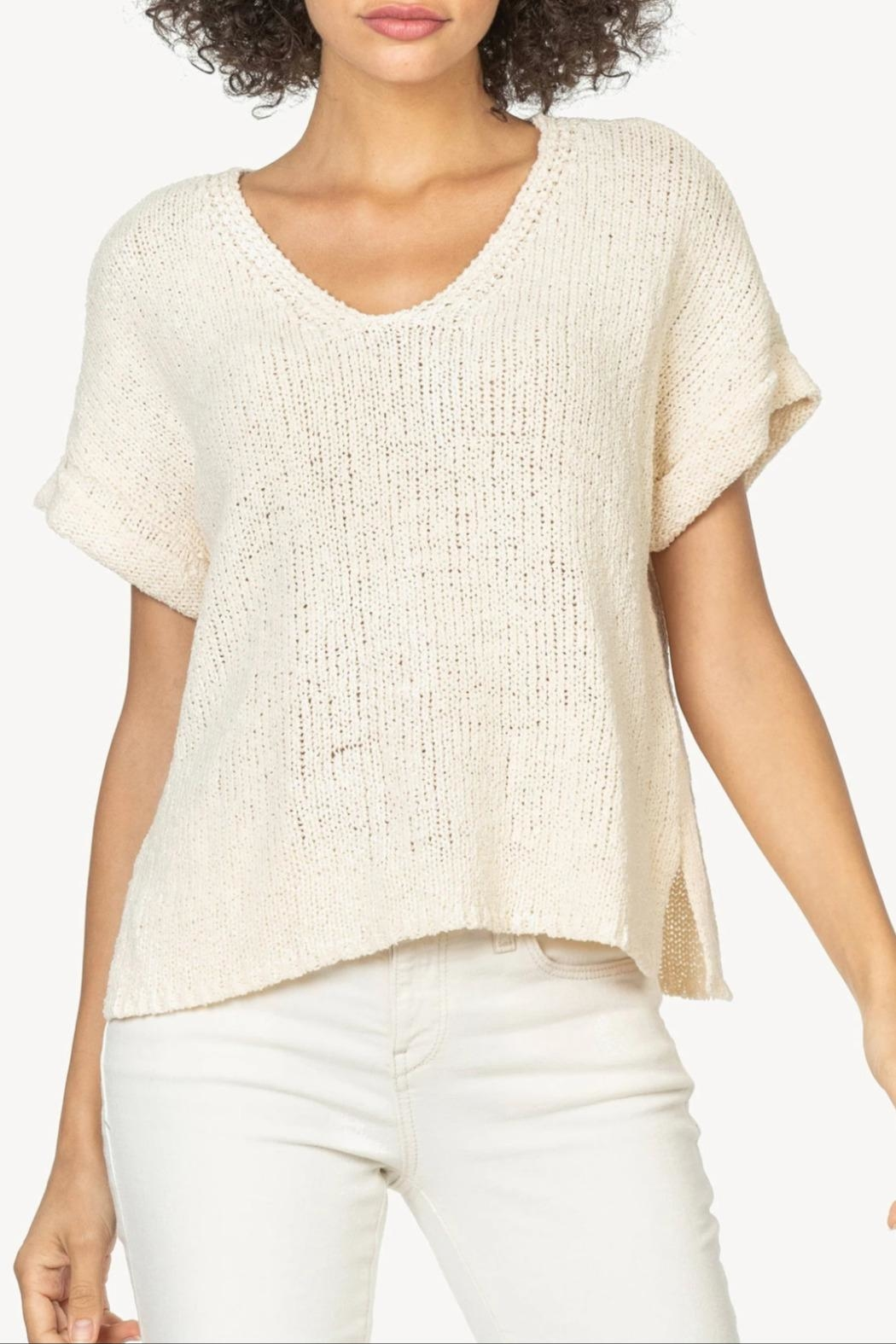 Lilla P Esay V-Neck Sweater - Side Cropped Image
