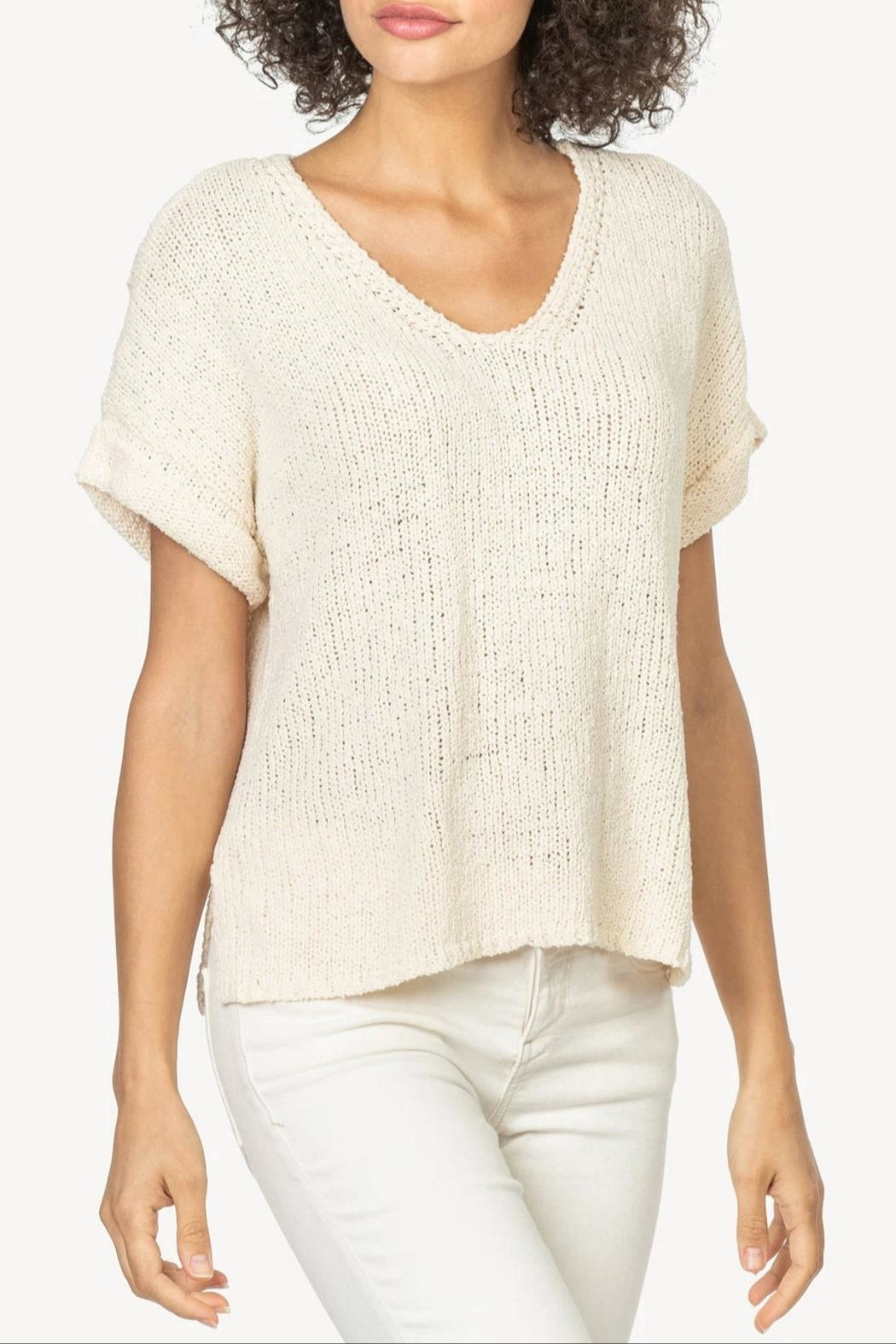 Lilla P Esay V-Neck Sweater - Front Cropped Image