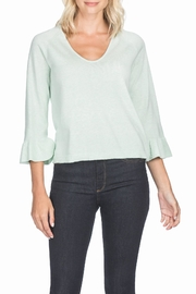 Lilla P Flutter Sleeve V-Neck - Product Mini Image
