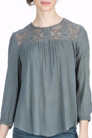 Lilla P Gunmetal Lace Blouse - Product Mini Image