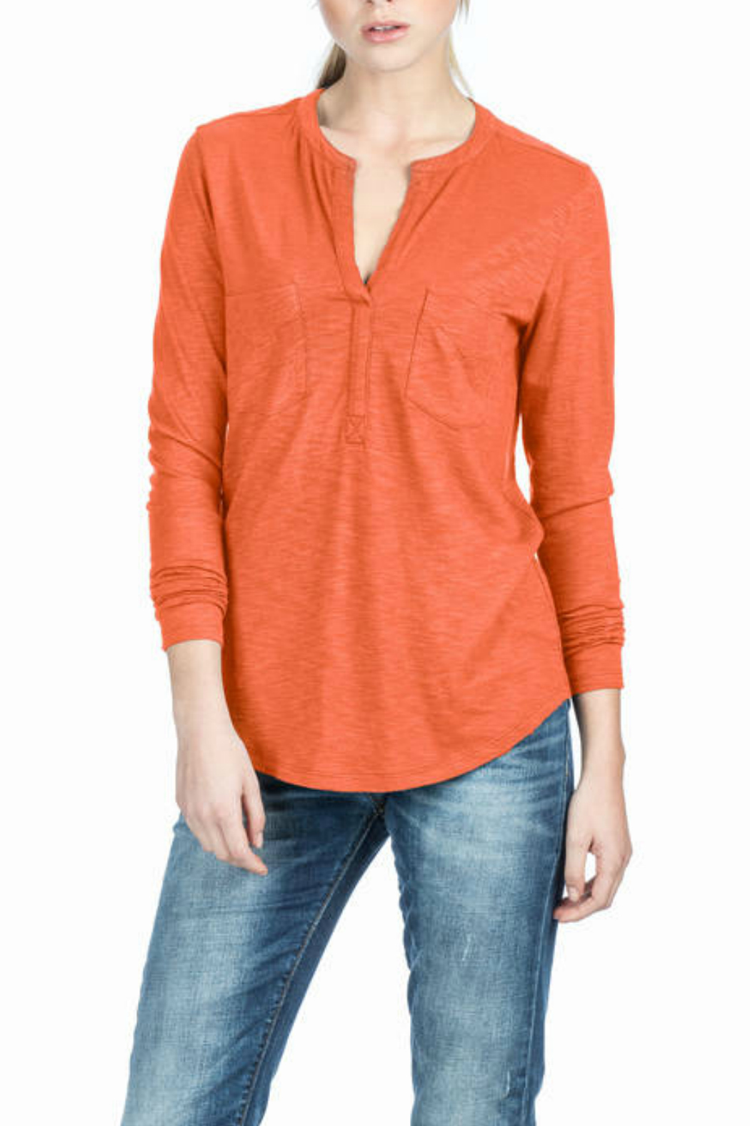 Lilla P Split Neck Top - Main Image