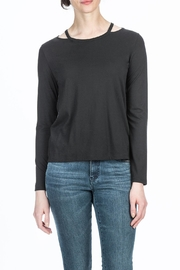 Lilla P Cut Out Neck Top - Product Mini Image