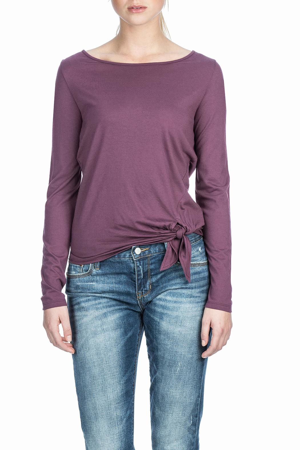 Lilla P L/s Tie Front Top - Front Cropped Image