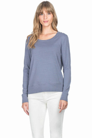 Lilla P Long Sleeve Button Shoulder - Front cropped