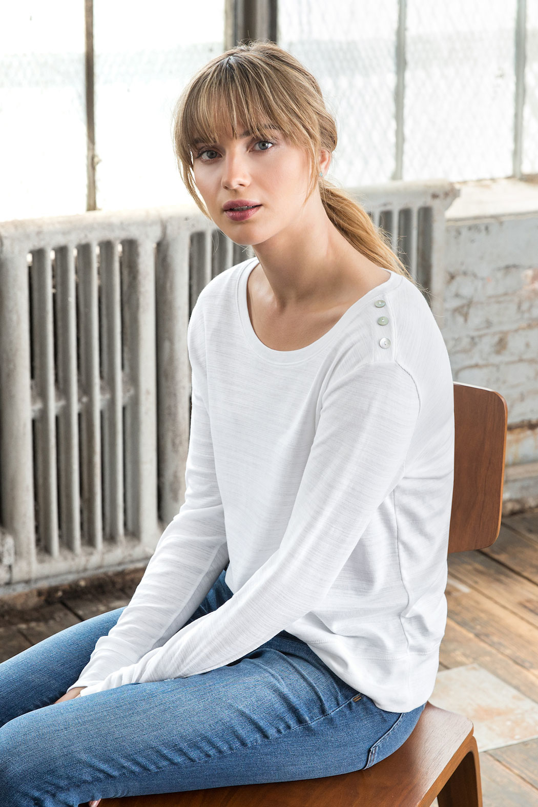 Lilla P Long Sleeve Button Shoulder - Main Image