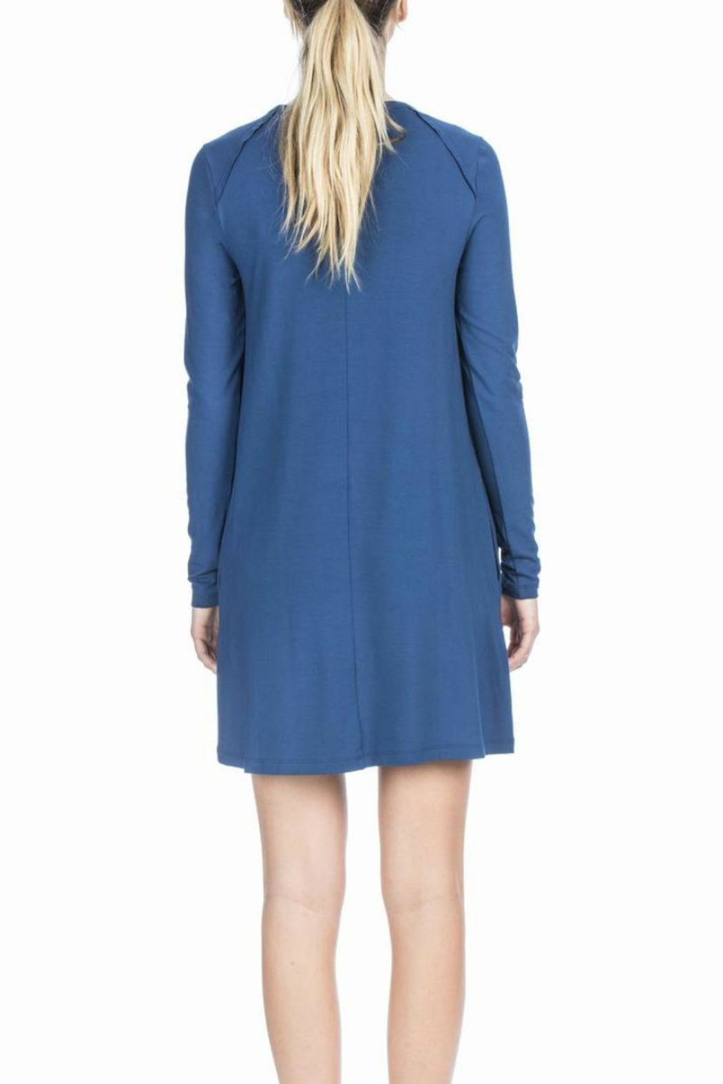 Lilla P Pocket Shift Dress - Back Cropped Image