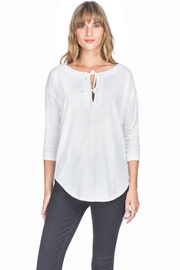 Lilla P Long Sleeve Tie Top - Front cropped