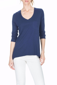 Lilla P Pocket V Neck Top - Alternate List Image