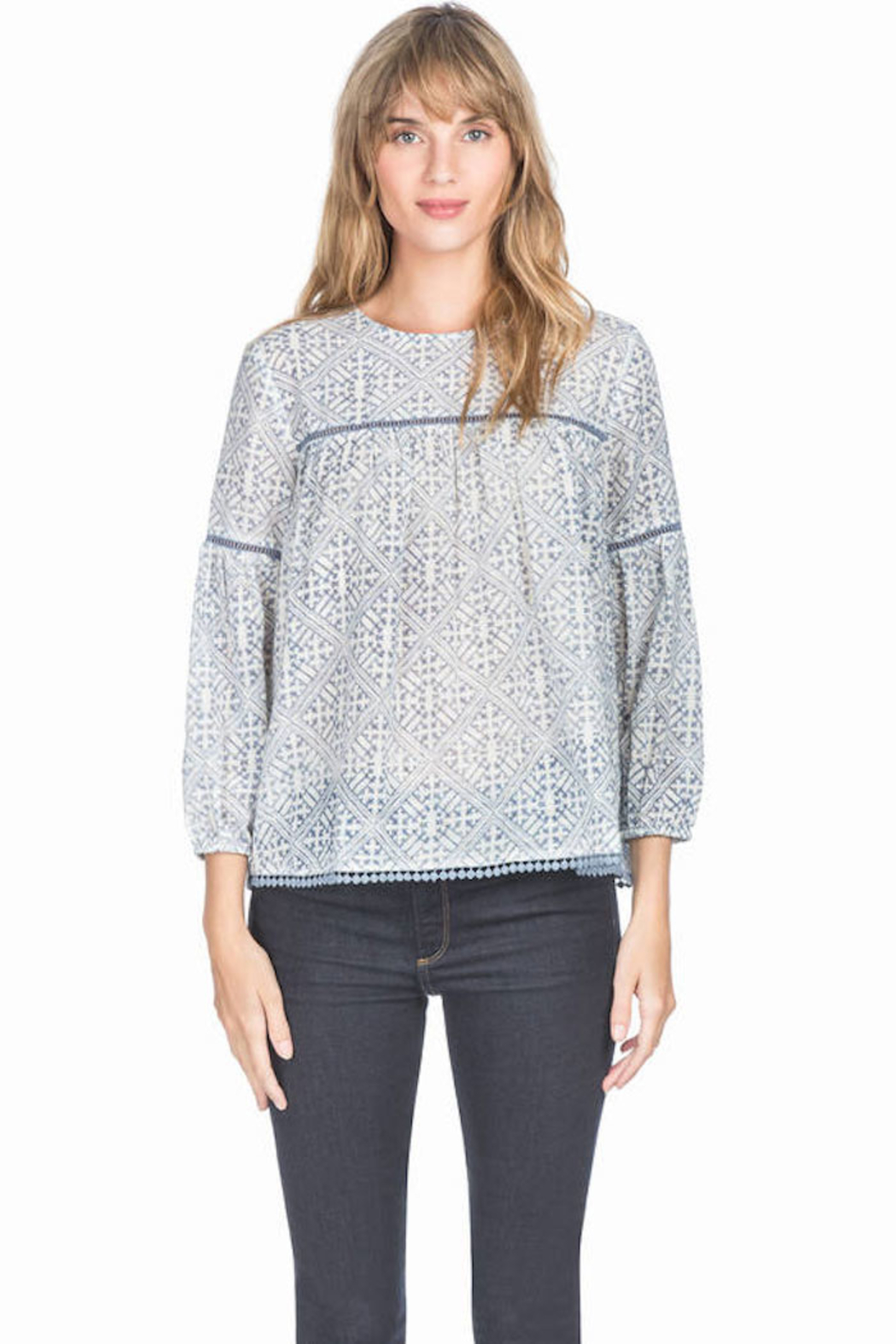 Lilla P Shirred Seam Blouse - Front Cropped Image