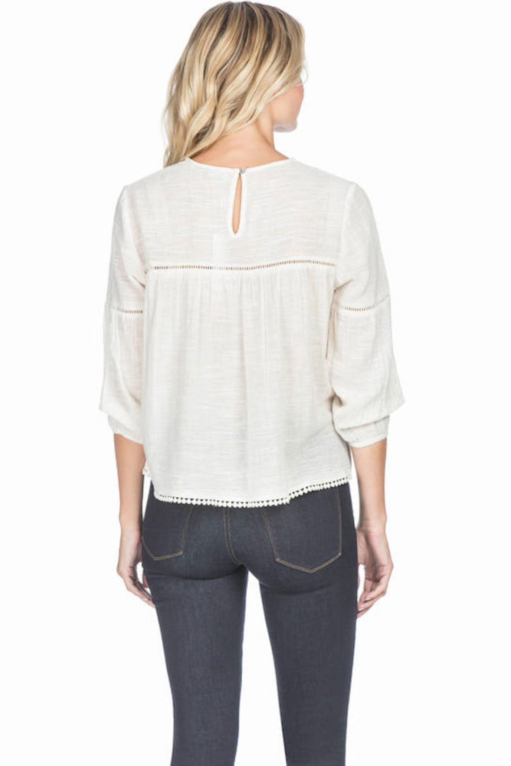 Lilla P Shirred Seam Blouse - Back Cropped Image