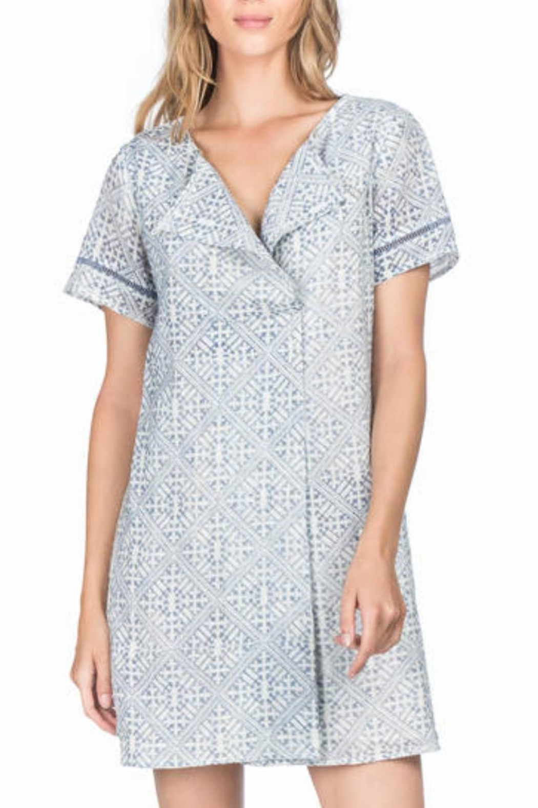 Lilla P Short Sleeve Dress - Front Full Image