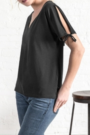 Lilla P Split Sleeve V Neck Top - Product Mini Image
