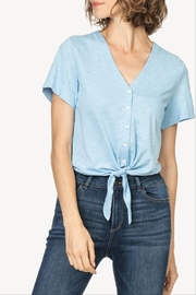 Lilla P Tie Front Tee - Front cropped