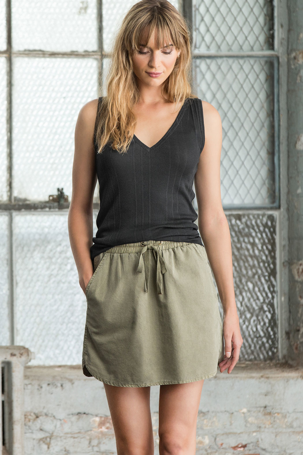 Lilla P V-Neck Tank - Front Cropped Image