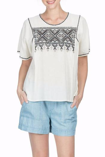 Shoptiques Product: Woven Embroidered Top - main