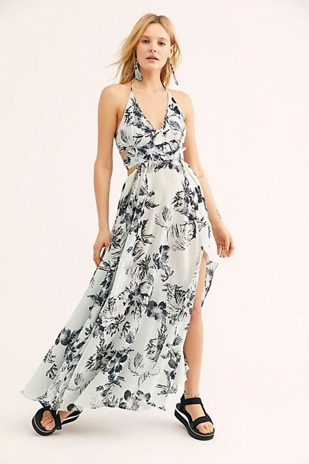 Free People Lille Printed Maxi - Front Full Image