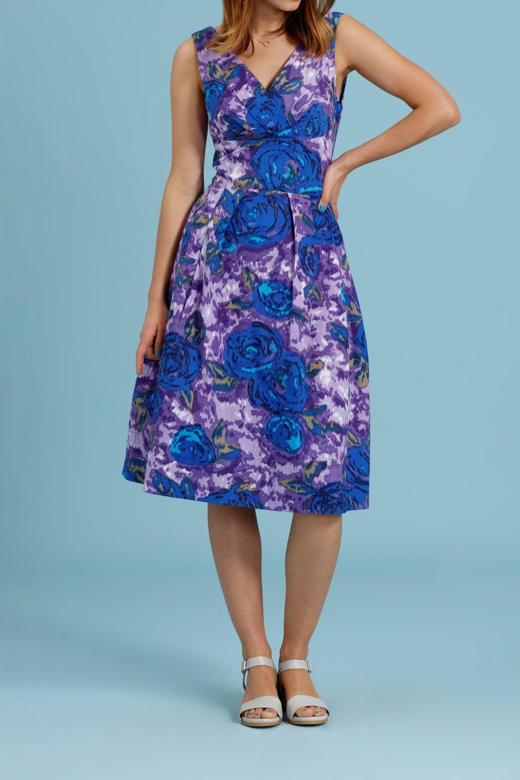 Emily & Fin Lillian Purple Floral - Front Full Image
