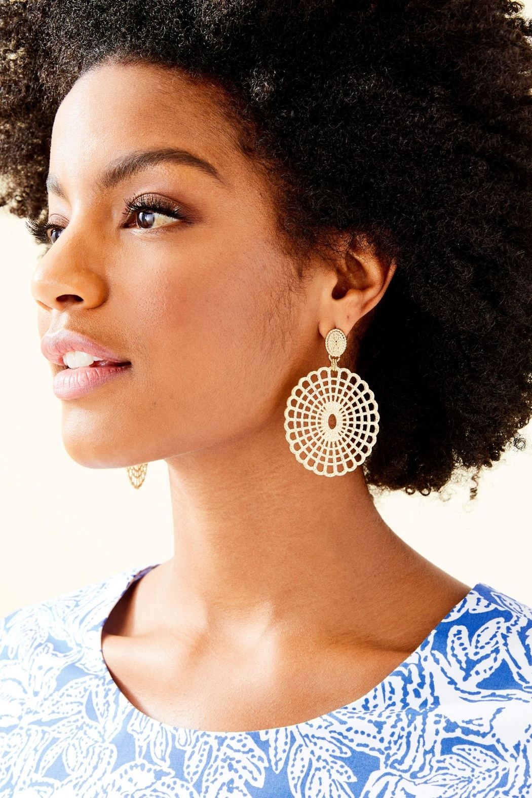 Lilly Pulitzer Lilly Lace Earrings - Front Full Image