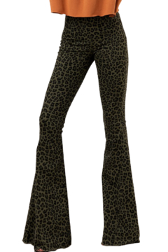 Trend Notes  Lilly Leopard Bell Bottoms - Product List Image