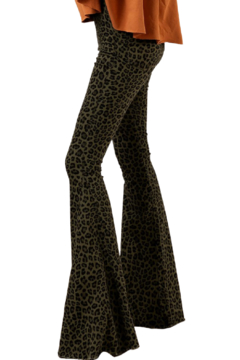 Trend Notes  Lilly Leopard Bell Bottoms - Alternate List Image