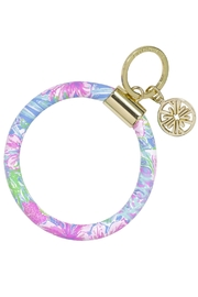 Lilly Pulitzer  Lilly Round Keychain - Product Mini Image