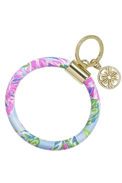 Shoptiques Product: Lilly Round Keychain