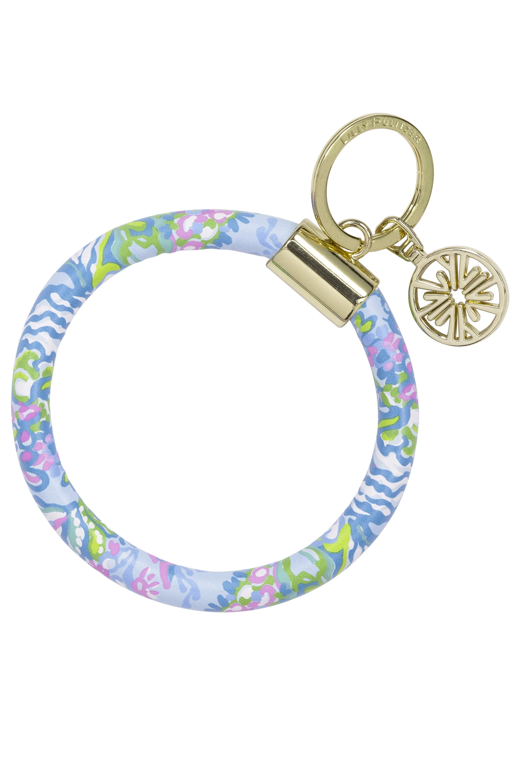 Lilly Pulitzer  Lilly Round Keychain - Front Cropped Image