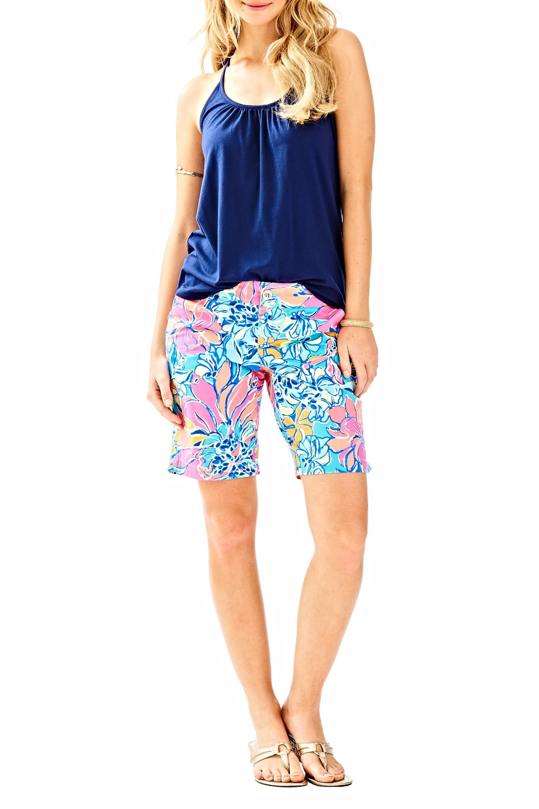 Lilly Pulitzer Chipper Shorts - Back Cropped Image