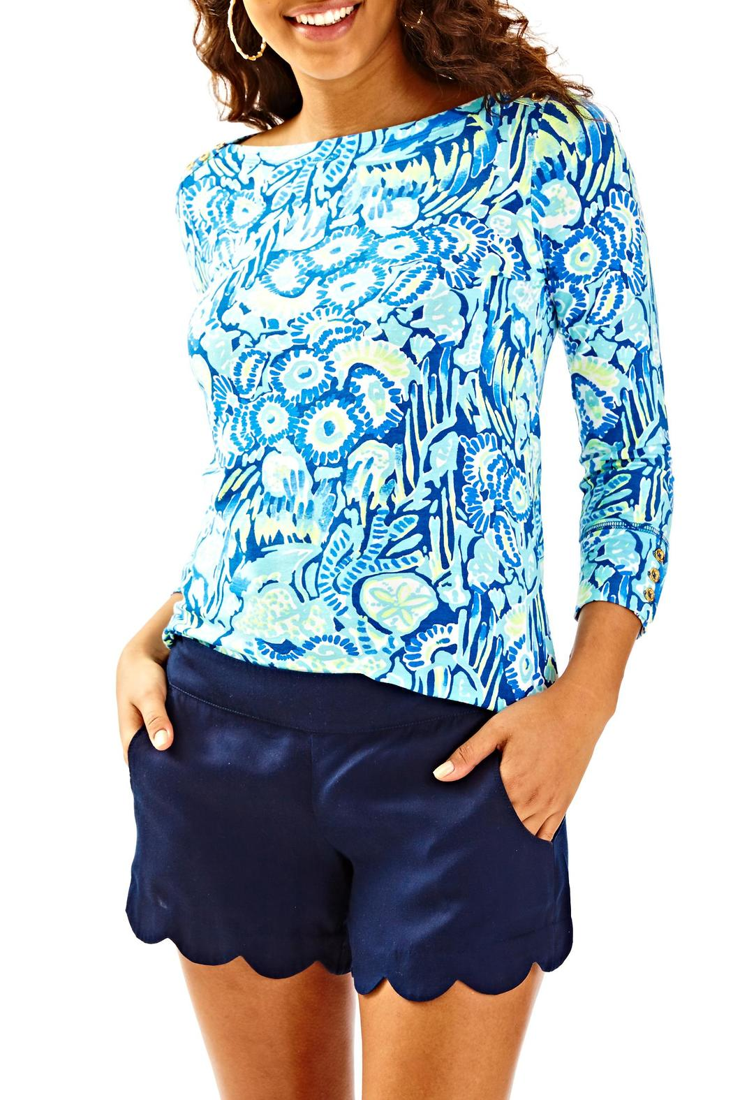 Lilly Pulitzer Dahlia Shorts - Front Cropped Image