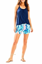 Lilly Pulitzer Blue Cali Shorts - Back cropped