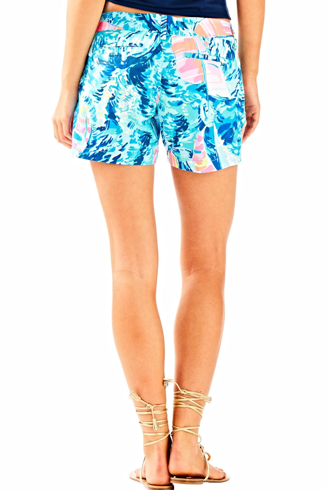 Lilly Pulitzer Blue Cali Shorts - Front Full Image