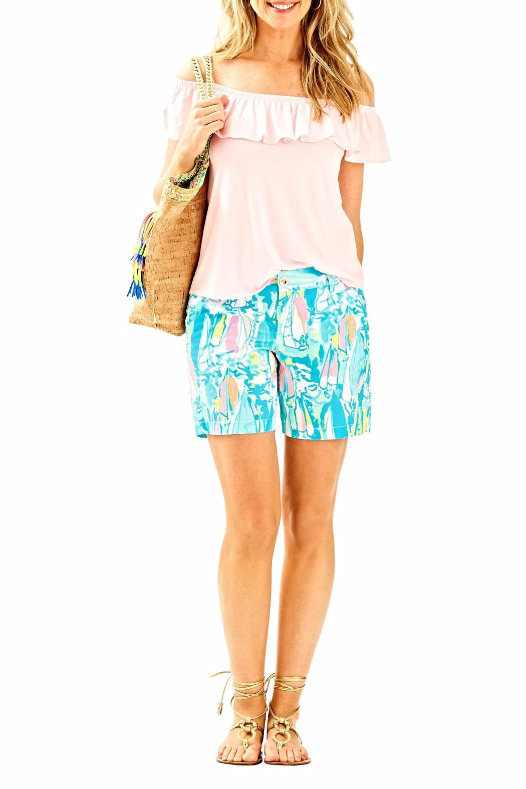 Lilly Pulitzer Jayne Shorts - Side Cropped Image
