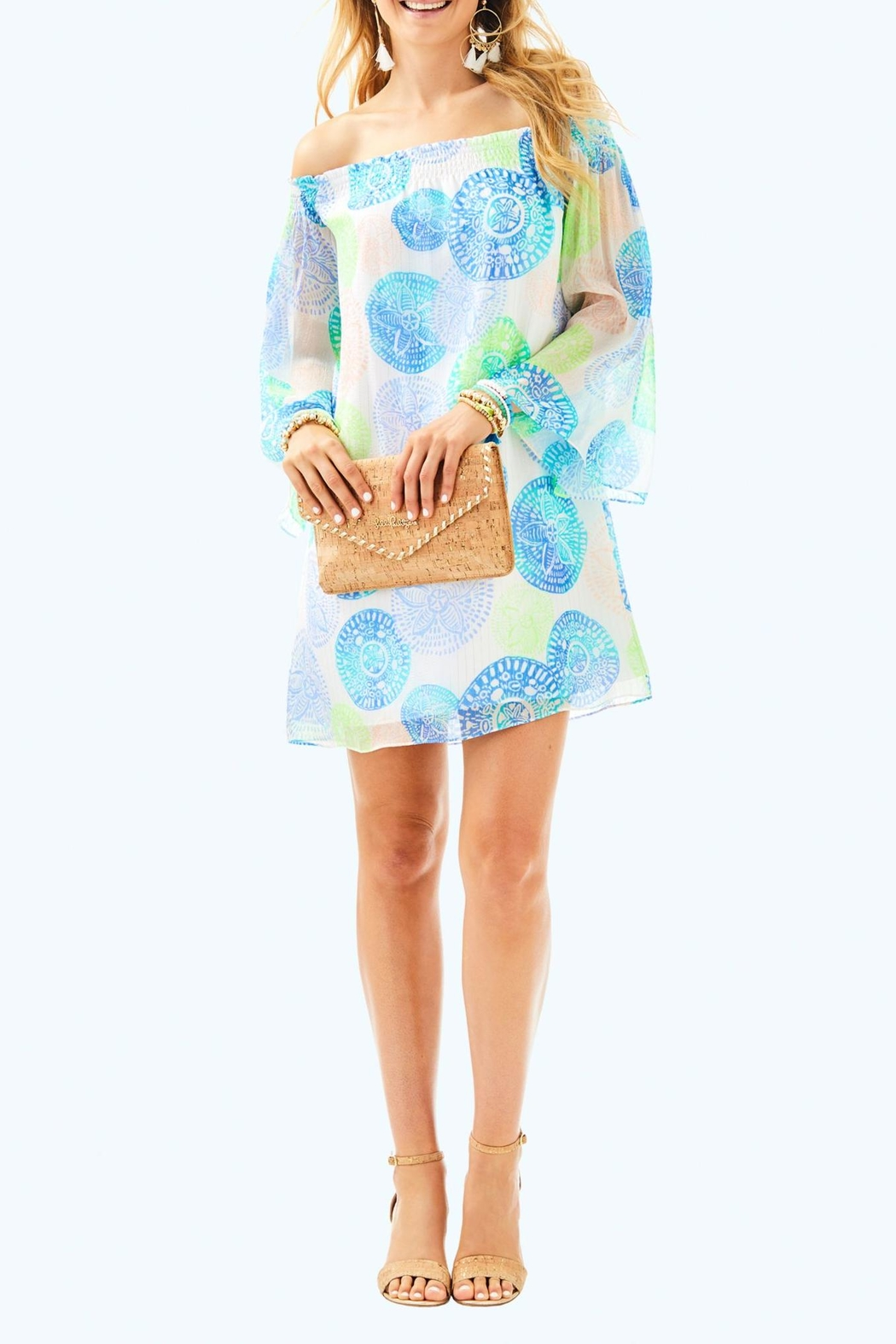 Lilly Pulitzer Abi Silk Dress - Back Cropped Image