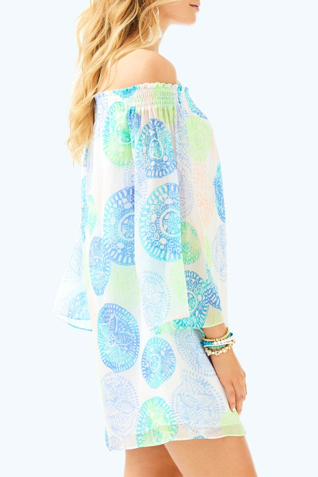 Lilly Pulitzer Abi Silk Dress - Side Cropped Image