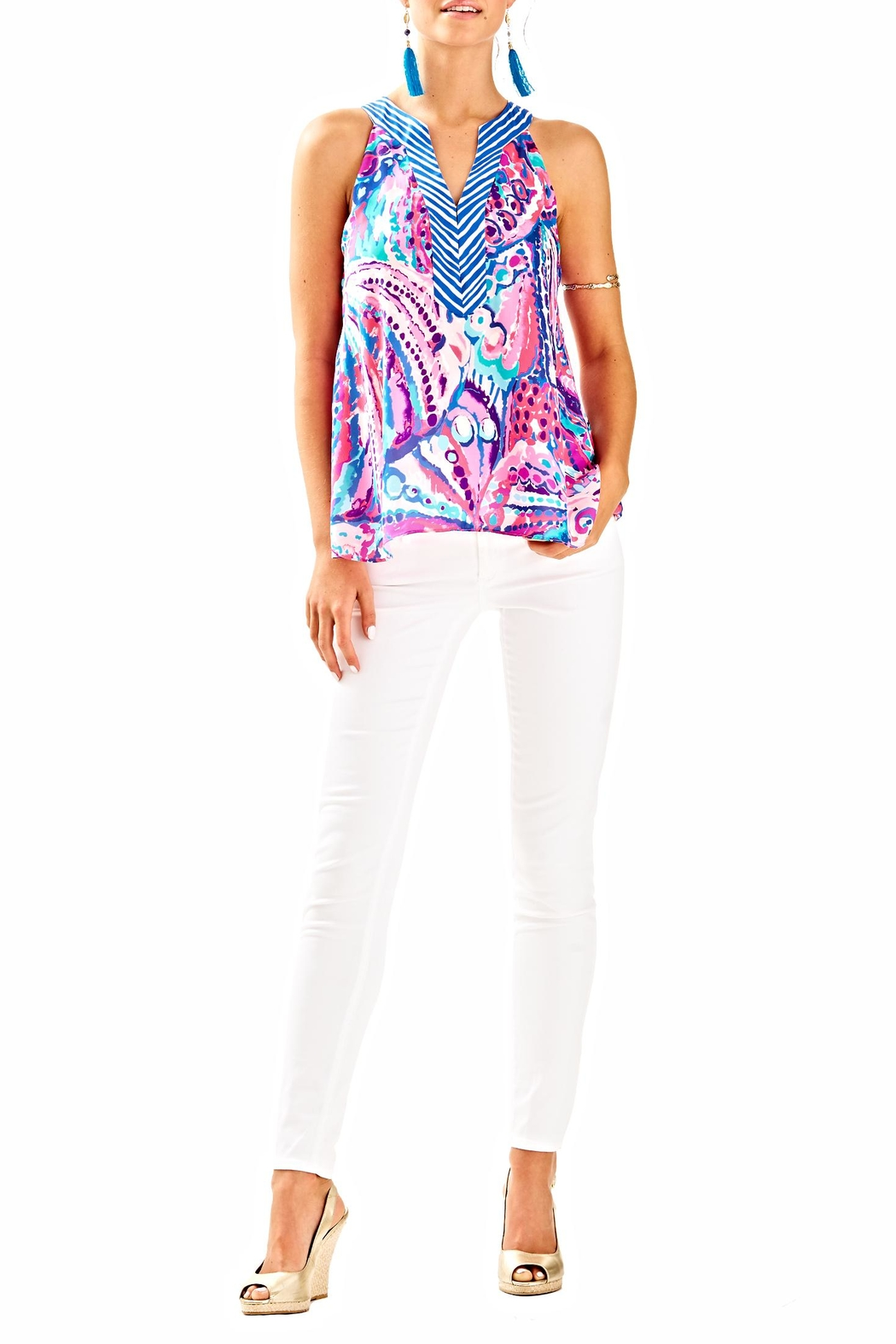 Lilly Pulitzer Achelle Top - Side Cropped Image