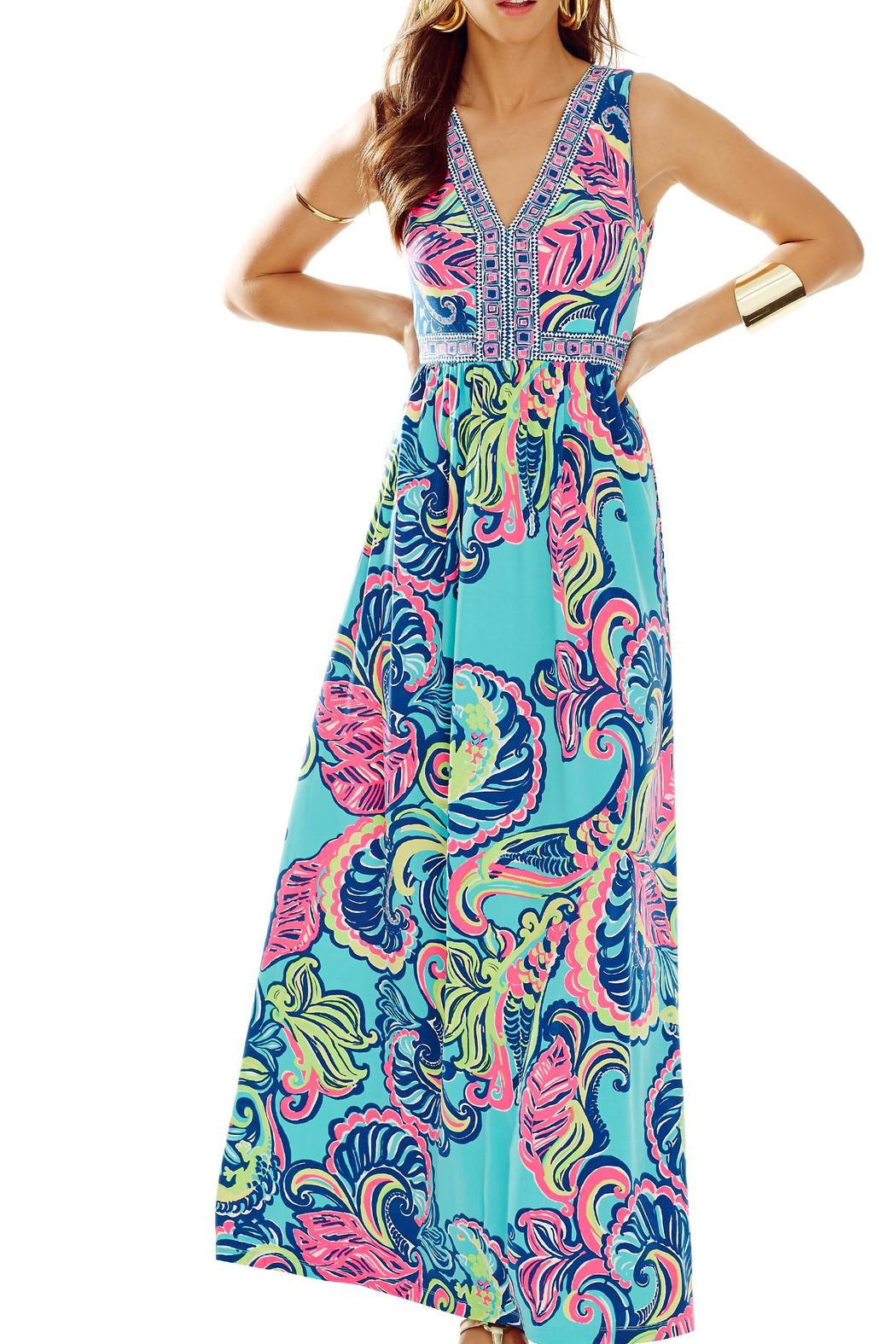 Lilly pulitzer maxi dress blue