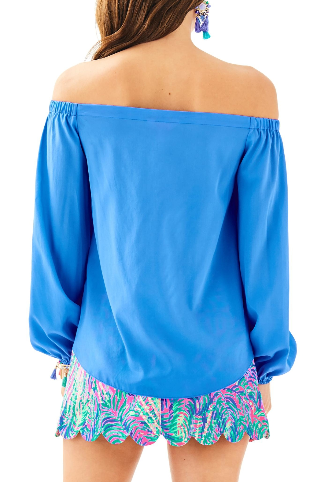 Lilly Pulitzer Adira Silk Top - Front Full Image