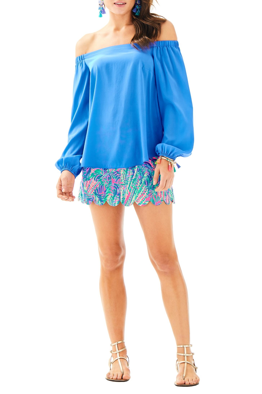 Lilly Pulitzer Adira Silk Top - Side Cropped Image