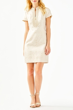 Lilly Pulitzer Adrena High-Collar Shift-Dress - Alternate List Image