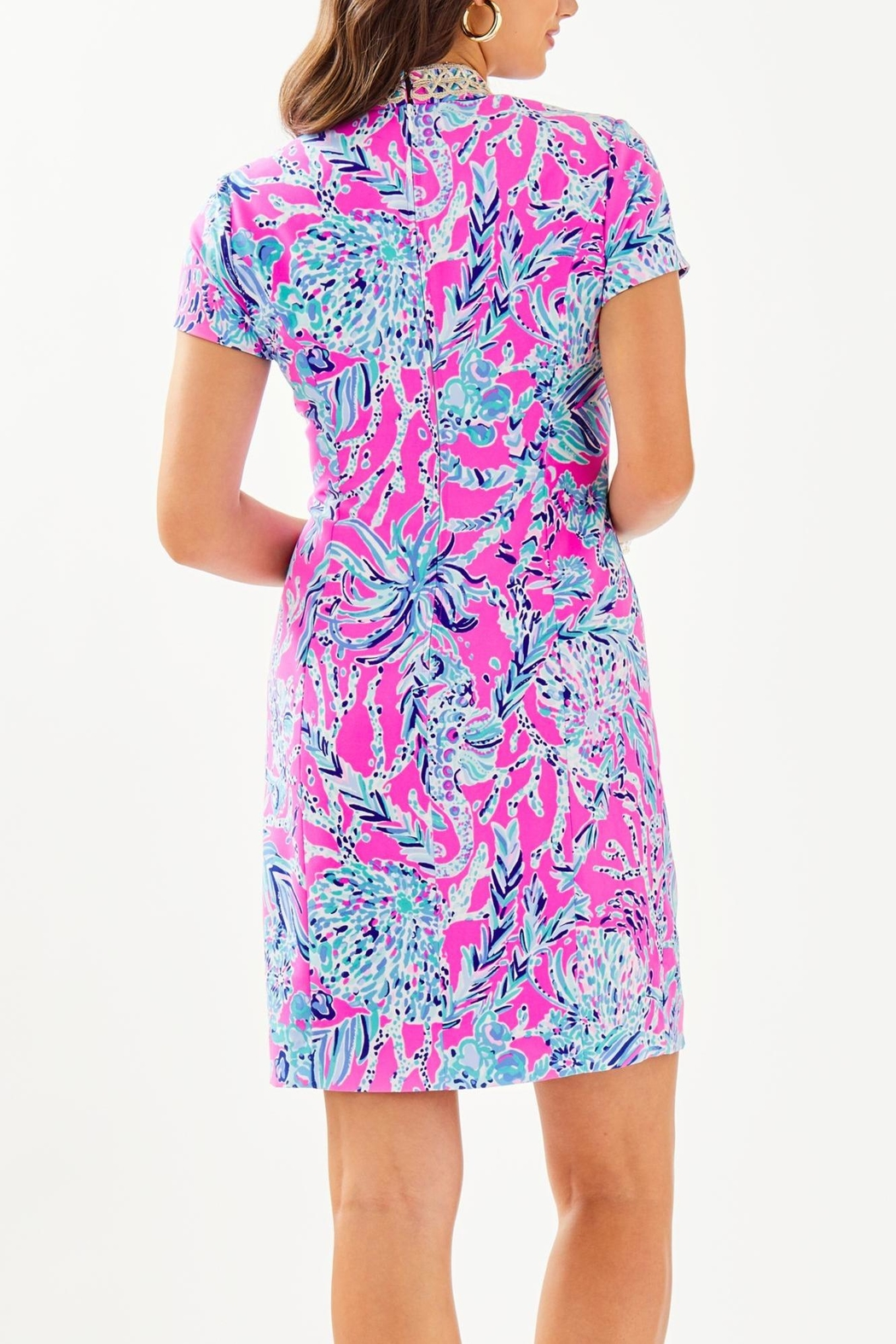 Lilly Pulitzer Adrena Stretch-Shift Dress - Front Full Image