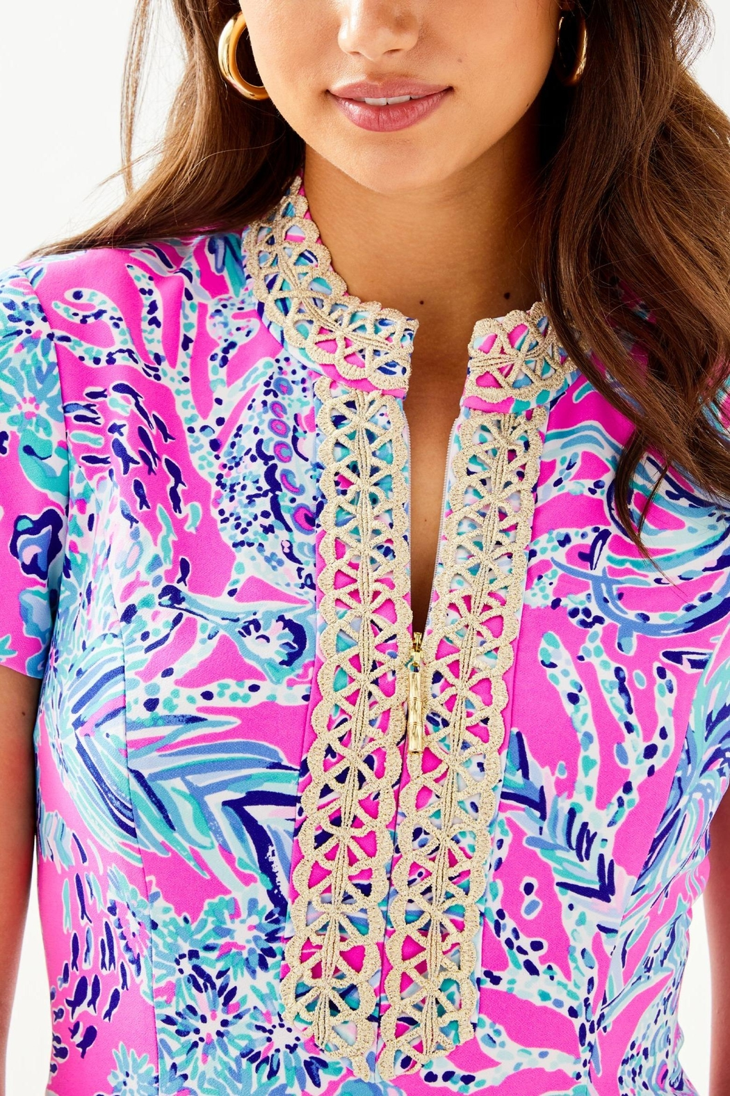 Lilly Pulitzer Adrena Stretch-Shift Dress - Back Cropped Image